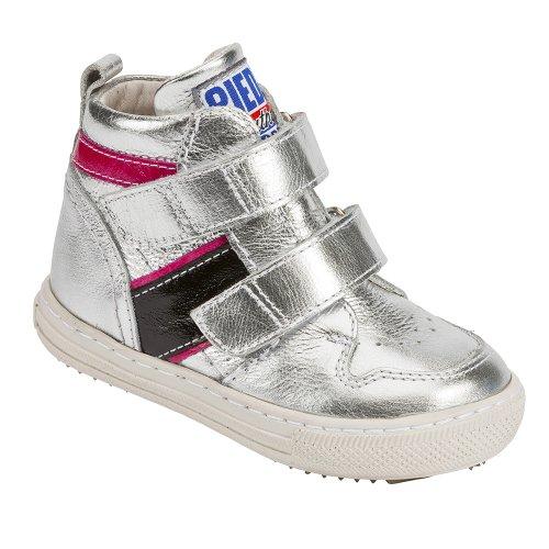 Nextstep 2264–thérapeutique pour enfants Chaussures, Argent/noir, dentelle, largeur 6,5Extra Large, taille 26