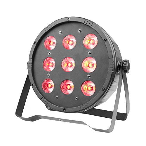 GBGS Par Can Light 9 RGBW LED 7/5CH DMX512 DJ Stage Lighting for Wedding Event Festival Celebration KTV Party Show -