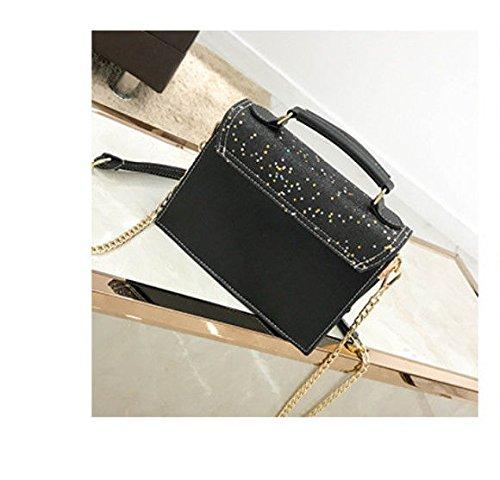 Bolsos Hombro Sola Black Damas Una GWQGZ Negro De Moda Moda De La Señoras Las Bolsa x7nAnXB