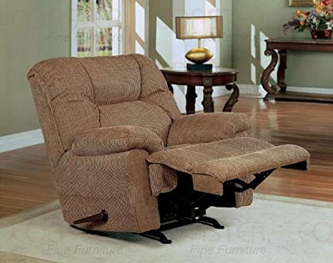 Amazon.com: Medium Brown Chenille Rocking reclinables silla ...