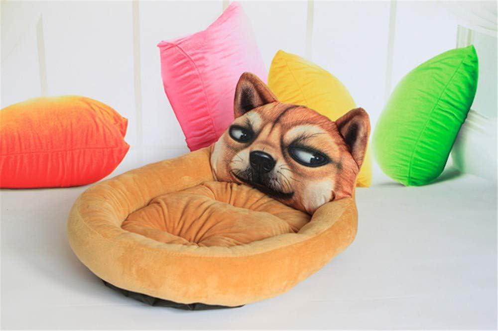 GYK Boutique Cama para Mascotas, Jaula de Dibujos Animados, marrón, M: Amazon.es: Productos para mascotas
