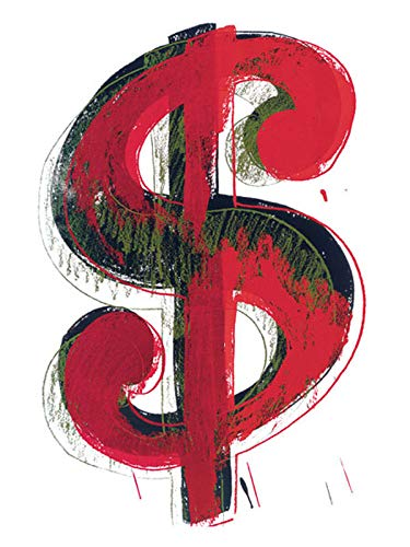 Poster Art Print - Dollar Sign, 1981 (red (14 x 11 inches) ()