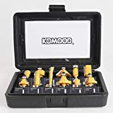 KOWOOD Router Bits Set of 12 Pieces 1/4 Inch