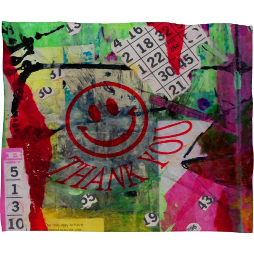 Deny Designs Sophia Buddenhagen Bright Bingo 1 Fleece Throw Blanket, 50 x 60 by Deny Designs