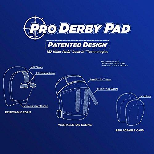 187 Killer Pro Derby Knee Pads - Black - Large by 187 Killer Pads (Image #3)