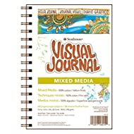 "Strathmore 500 Series Visual Mixed Media Journal, 9""x12"" Vellum, Wire Bound, 34 Sheets"