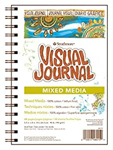 "Strathmore Pro-Art 460-19 500 Series Visual Mixed Media Journal, 9""x12"" Vellum, Wire Bound, 34 Sheets"