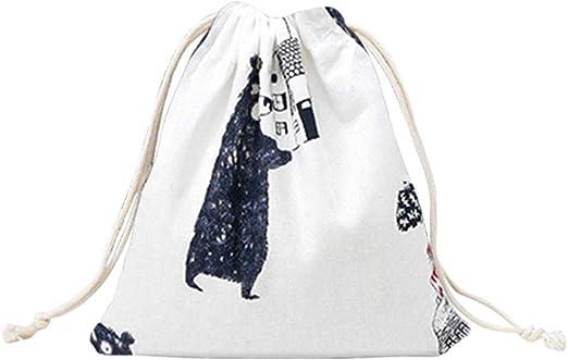 Imprim/é Coton Sac De Rangement Rayon Cordon Sac /À Bijoux Cadeau De Th/é Sac De Bonbons Style Pastoral Sac Cr/éatif Sacoche De Rangement De Voyage