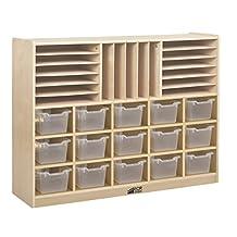 Ecr4Kids Multi-Section Storage Cabinet 15 Clear Bins