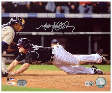 Matt Holliday Colorado Rockies Homeplate Slide Autographed 8