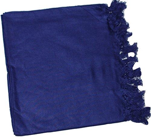 Women Solid Color Swimwear Sarong Pareo Beach Cover Ups (Purple)