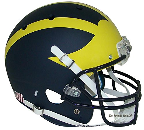 Michigan Wolverines Matte Blue Officially Licensed Full Size XP Replica Football ()
