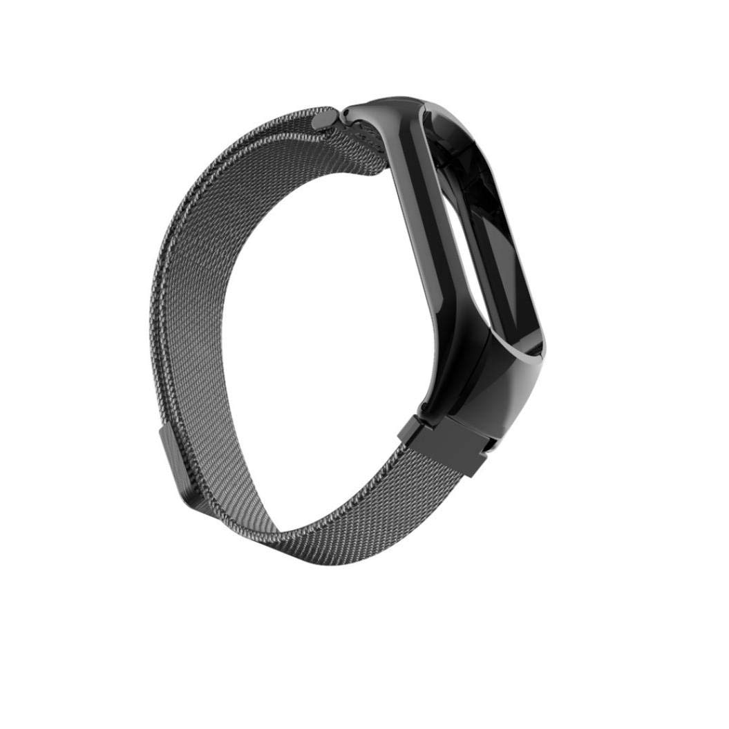Bestow Xiaomi Mi Band 3 Milanese Banda de Reloj Banda de Reloj de Acero Inoxidable MagnšŠtico Reloj Elegante Reloj de Pulsera de Electrš®nica ...