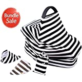 *NEW RELEASE* Carseat Canopy + 2 Bandana Bibs and Carrier Case 4 Item Set By Michael Misko