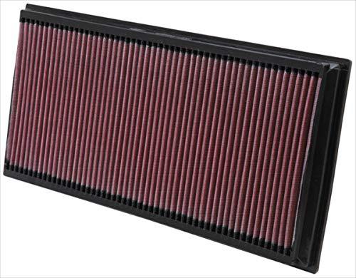K&N engine air filter, washable and reusable:  2002-2019 Porsche/Volkswagen/Audi/Land Rover SUV (Cayenne, Touareg, Q7, Range Rover) 33-2857