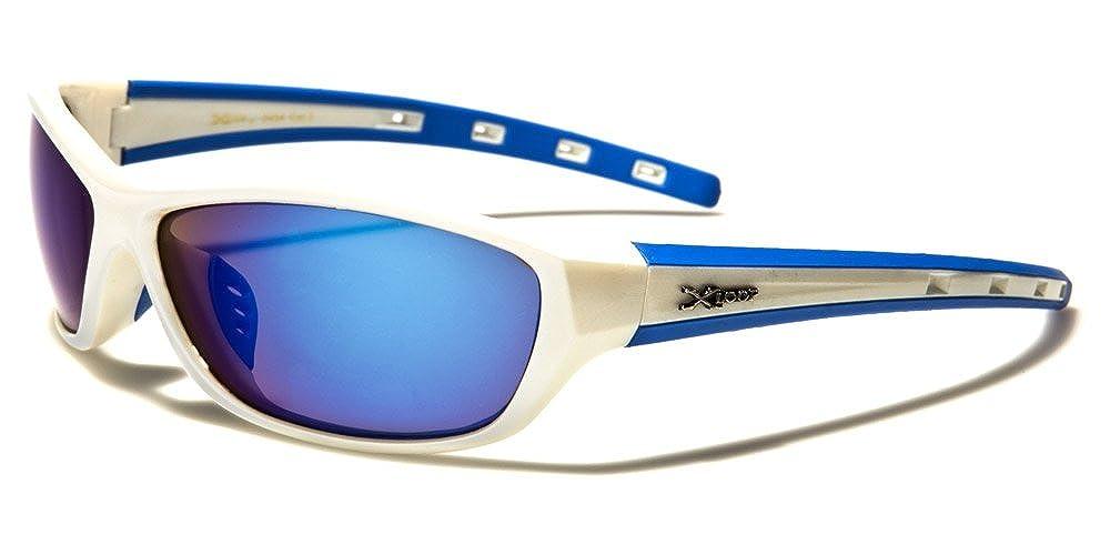 Sonnenbrille Sport Herren Damen 6 Farben Verspiegelte Gläser Halbrand X-Loop
