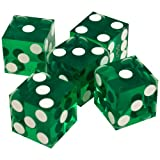 : Trademark Poker 19mm A Grade Serialized Set of Casino Dice (Green)