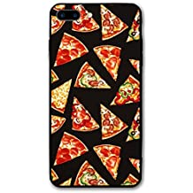 KDFHKA IPhone 8 Plus Case, 7 Plus Case Black Pizza Hard Anti-Scratch &Fingerprint Non Slip PC Phone Case, 5.5 Inch Black