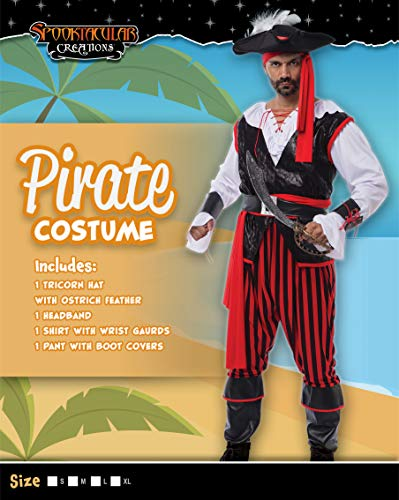 Spooktacular Creations Pirate Costume Men's Plundering Sea Captain Adult Set for Halloween Dress Up  - http://coolthings.us
