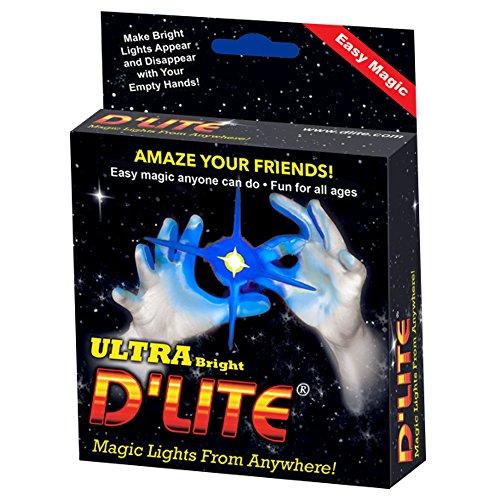 Magic Trick Blue - D'lites Regular Blue Lightup Magic - Thumbs - Set of 2 Original Amazing Ultra Bright Light - Closeup & Stage Magic Tricks - Easy - Free Training Video See Box (Regular, Blue)