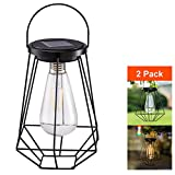 Outdoor Solar Lanterns Lamps - Sunwind Tabletop Filament LED Edison Bulbs Hanging Solar Powered Garden Decorative Table Lights for Patio Backyard Courtyard Lawn Landscape Décor (ST64 Filament Bulb)