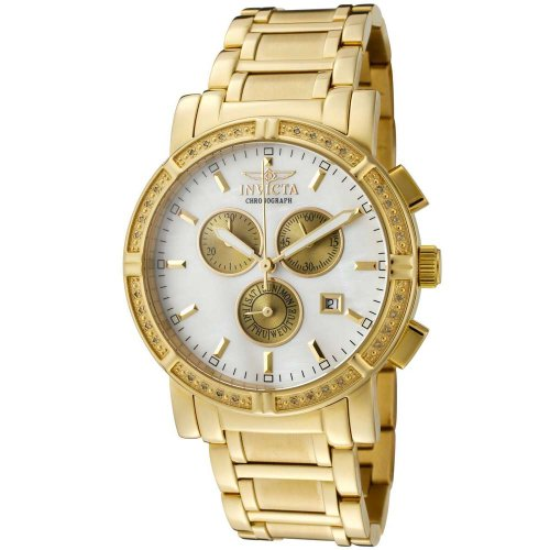 Invicta Men's 4743 II Collection Limited Edition Diamond Gold-Tone (Diamond Chrono Watch)