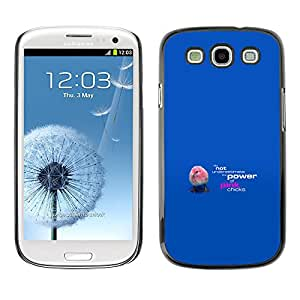 EJOY---Cubierta de la caja de protección la piel dura para el / Samsung Galaxy S3 / --Rosa polluelos divertidos