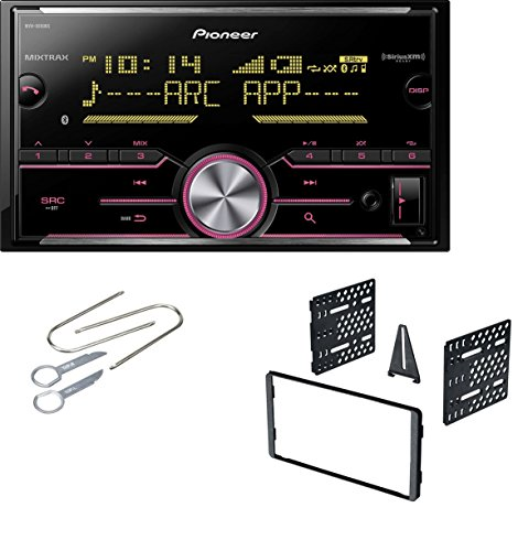 Ford Double Din Dash Kit With Pioneer MVH-X690BS Vehicle Digital Media 2DIN Receiver with Enhanced Audio Functions by CACHE, AMERICAN INTERNATIONAL, SCOSCHE, PIONEER