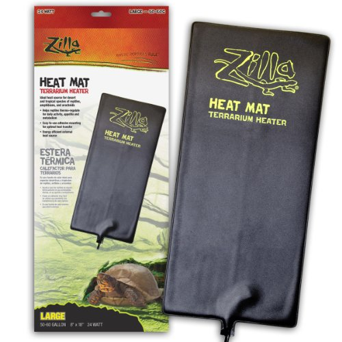 (Zilla Reptile Terrarium Heat Mats, 50-60 Gallon)