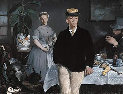 Famoso cuadro de Edward Manet almuerzo en el estudio Kit de pintura al oleo DIY, kit de pintura por numeros para ninos y adultos