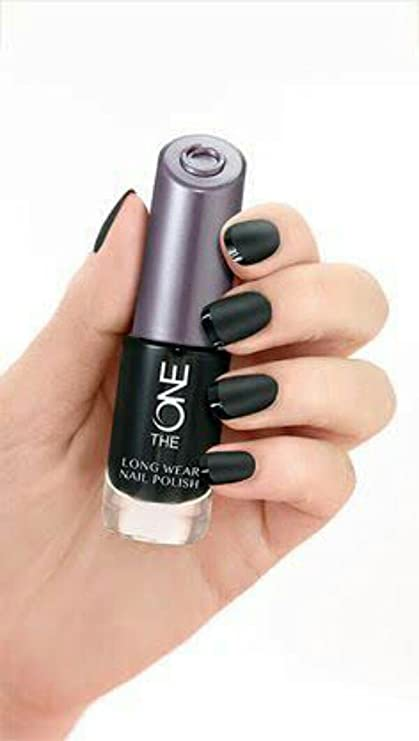Oriflame the one long wear nail polish Black noir: Amazon.in ...