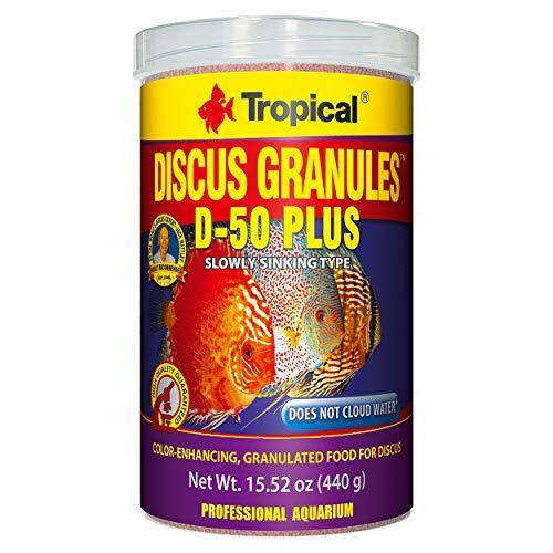 Tropical USA Discus Granules D-50 Plus Fish Food Tin, 440g ()