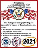 Workbook for the US Citizenship test with all