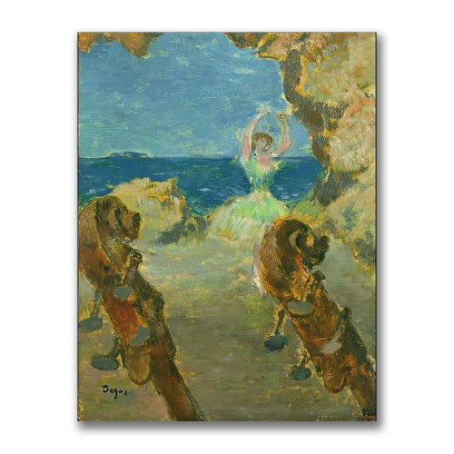 The Ballet Dancer, 1891 by Edgar Degas, 35x47-Inch Canvas Wall Art