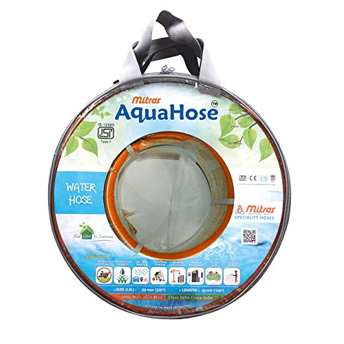 AquaHose Agriculture Water Hose Pipe  20mm ID   3/4 #34;    100 ft.  30 mtr  ISI Marked Hose Pipe