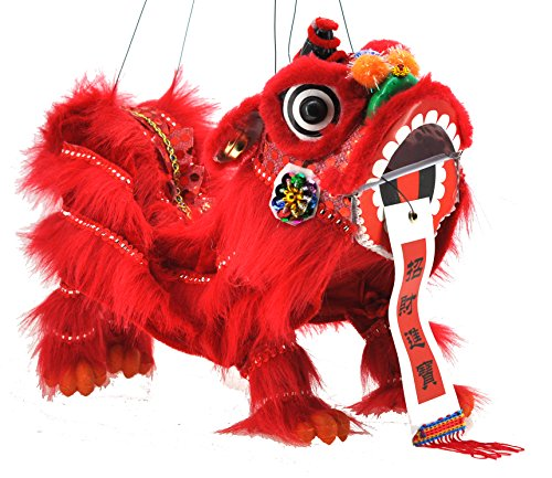Chinese Hand Marionette Puppet (Red Lion Marionette)
