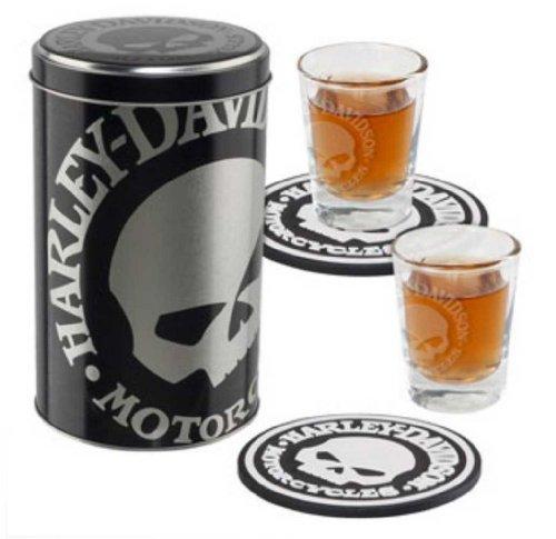 Harley-Davidson Willie G. Skull Shot Glass Set HDL-18748