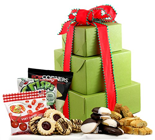LARGE - Gluten Free Palace Holiday Delight Gluten Free Gift Tower ~ Gourmet Gluten Free Gift Baskets with Gluten Free Snacks ~ Gourmet Gifts ~ Gluten Free Care Package ~ Holiday Gift Baskets