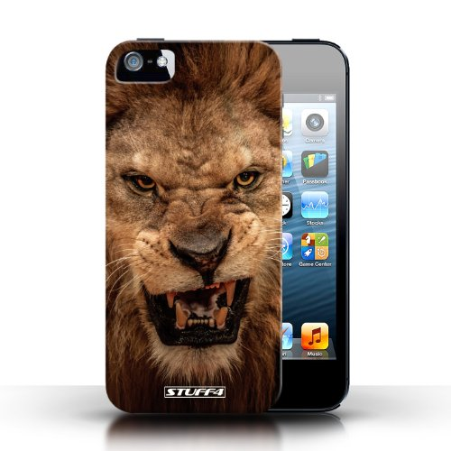 iCHOOSE Print Motif Coque de protection Case / Plastique manchon de telephone Coque pour Apple iPhone 5/5S / Collection Animaux sauvages / Lion