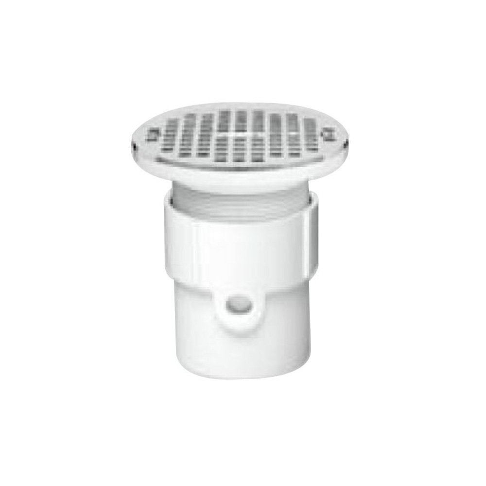 3-Inch or 4-Inch Oatey 82187 ABS General Purpose Drain with 6-Inch CHR Grate