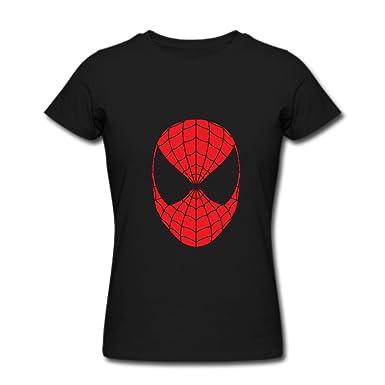 amazon com ty spider man face logo t shirt for women black clothing rh amazon com Superman Logo T-Shirts Spider-Man 3 Logo