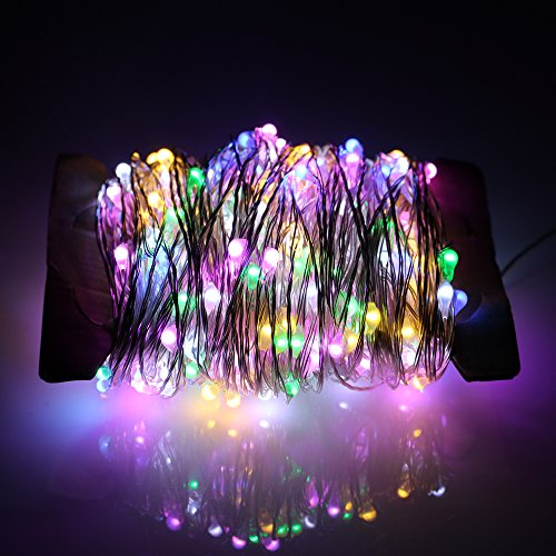 Christmas Volt 12 Lights (ErChen Led String Lights Dimmable with Remote, 99ft 300 Leds Silver wire Fairy Decorations Lights for Indoor Outdoor Christmas Wedding and Party(Multi-color))