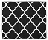 Sweet Jojo Designs Black and White Trellis Print Lattice Accent Floor Rug