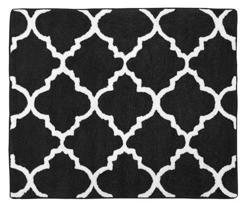 Sweet diseños Jojo Blanco y Negro celosía Entramado de impresión Accent alfombra