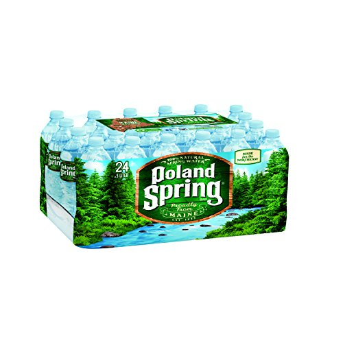 POLAND SPRING 100% Natural Spring Water, 16.9-ounce plastic bottles (Pack of 24) (Spring Water compare prices)