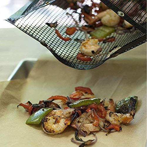 Weknowu Sac en maille anti-adhésif réutilisable pour barbecue, four/four/pique-nique/jardin/extérieur Cuivre Taille M