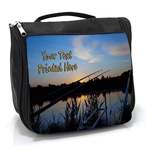 Personalised Wash Bag Carp Fishing Hanging Toiletry Bag   Travel Make up Cosmetic  Overnight Bag ** Add a Name ** SH044