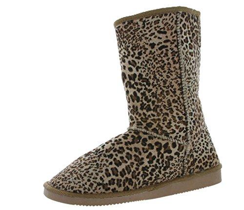 Scarponi Da Neve Invernali Moda Carino E Confortevole Moda Morbida (leopard, 7)