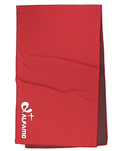Cooling Towel for Instant Relief - 40 Long As Scarf - XL Ultra Soft Breathable Mesh Yoga Towel - Keep Cool for Running Biking Hiking Golf & All Other Sports, Waterproof Bag Packaging with Carabiner