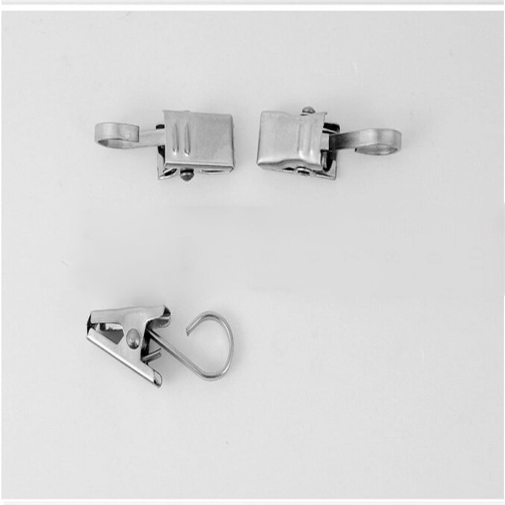 AsentechUK/® 20Pcs Stainless Steel Antirust Thicken Curtain Clips with Hooks Window Clips Hanging Clips Drapery Clamp Multi-purpose Home Decoration
